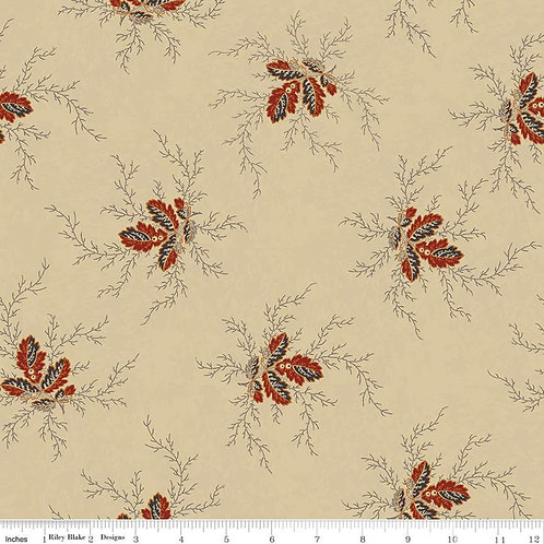 Bountiful Autumn Flora Rust C10850-RUST by Stacy West for Riley Blake Designs