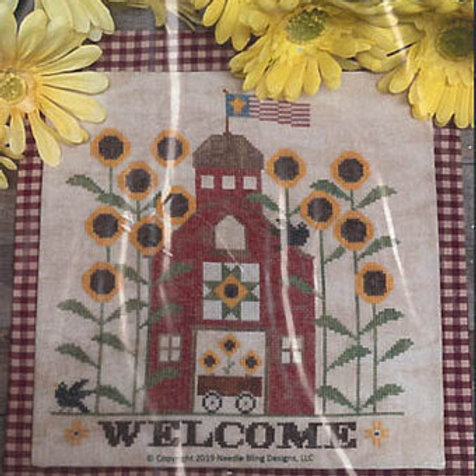 Sunflower Barn - Needle Bling Desings - Cross Stitch Pattern