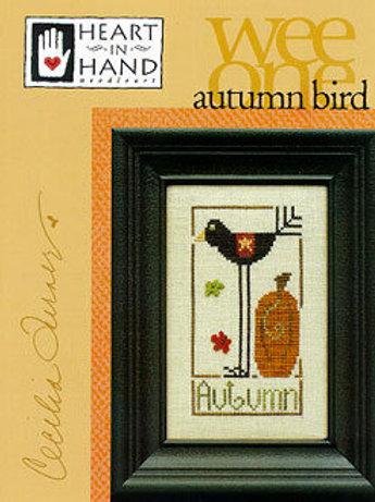 Autumn Bird (Wee One) - Heart in Hand - Cross Stitch Pattern