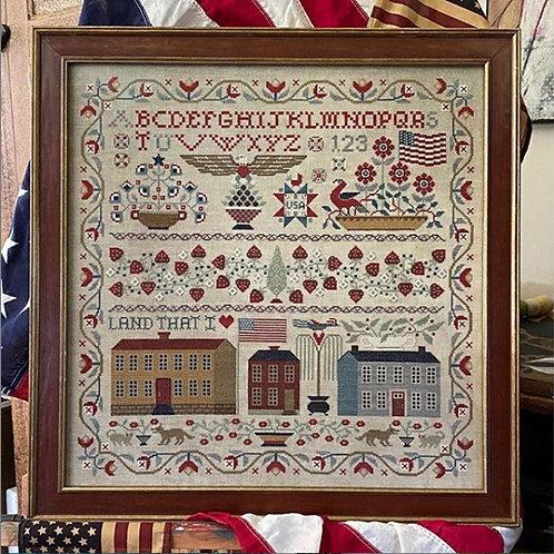 Land That I Love - Teresa Kogut - Cross Stitch Pattern - Sampler