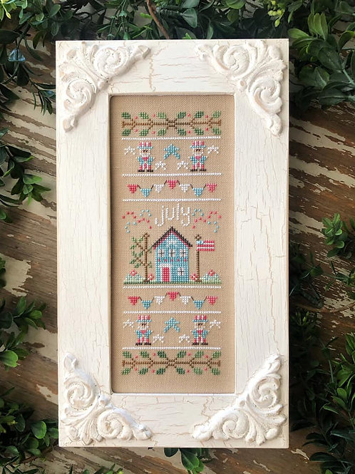 July - Sampler of the Month - Country Cottage Needleworks