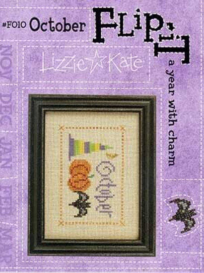 Flip-It Charm October - Cross Stitch Pattern