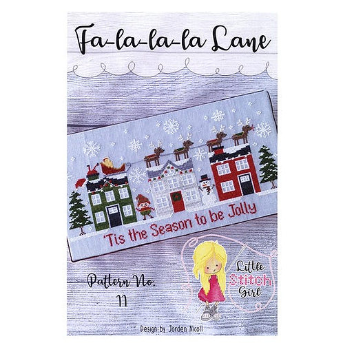 Fa-La-La-La Lane - by Little Stitch Girl - Cross Stitch Pattern