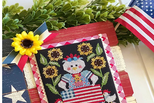 Red White and Bantam - by Stitching With the Housewives