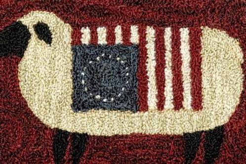 Liberty Wool PN063 - by Teresa Kogut - Punchneedle