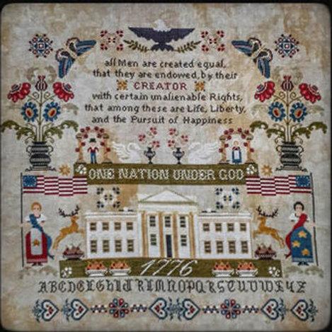 One Nation Under God (Liberty) by Twin Peaks Primitives - Cross Stitch Pattern