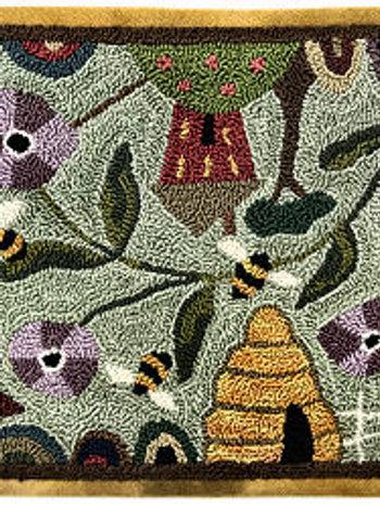Bee Grateful - Punch Needle Pattern