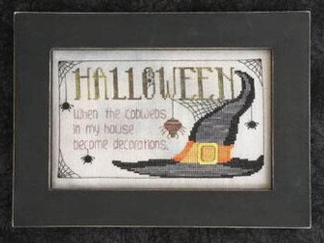 Halloween Cobwebs - Waxing Moon Designs - Cross Stitch Pattern