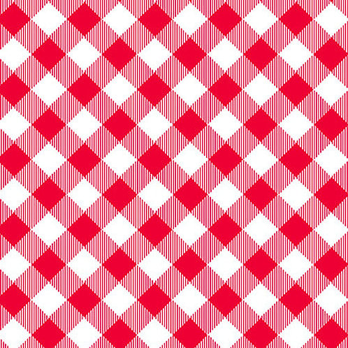 Priscilla's Pretty Plaids - Red/White Buffalo Check
