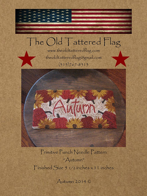 Autumn - Punch Needle Pattern - by The Old Tattered Flag