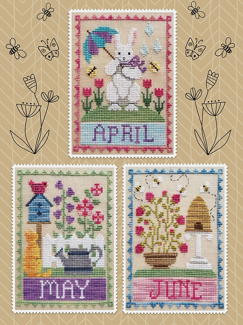 Monthly Trios - April, May & June - by Waxing Moon Designs