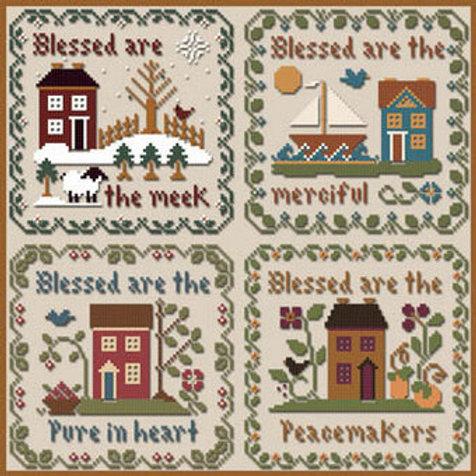Saltbox Scriptures - Little House Needleworks Cross Stitch Pattern