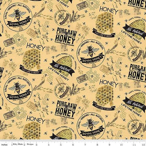 Bee's Life Main Honey SKU C10100-HONEY -  by Tara Reed for Riley Blake