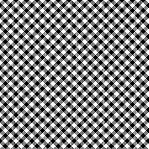 Chelsea's Checks - Black/White -1 Yard Cut - Stitching with the Housewives