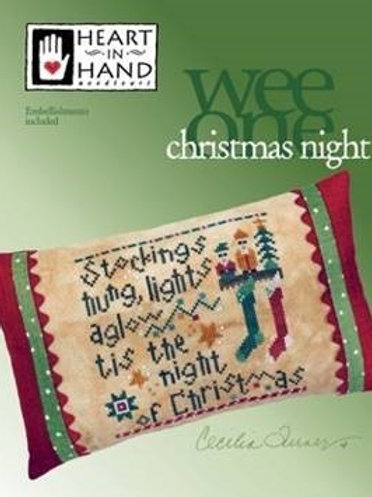 Christmas Night - Heart in Hand- Counted Cross Stitch