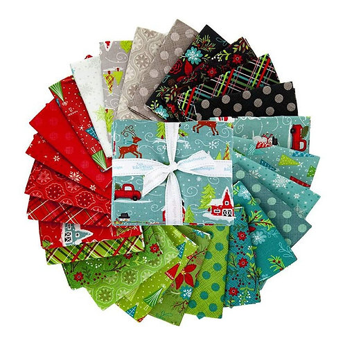 Snowed In - Fat Quarter Bundle by Heather Peterson for Riley Blake