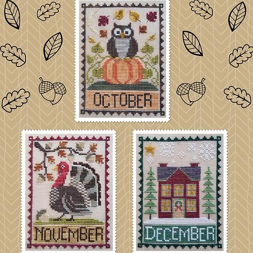 Monthly Trios -October, November & December
