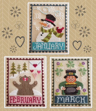 Monthly Trio - Waxing Moon Designs