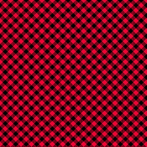 Chelsea's Checks - Red/Black - 1 Yard Cut - Stitching with the Housewives