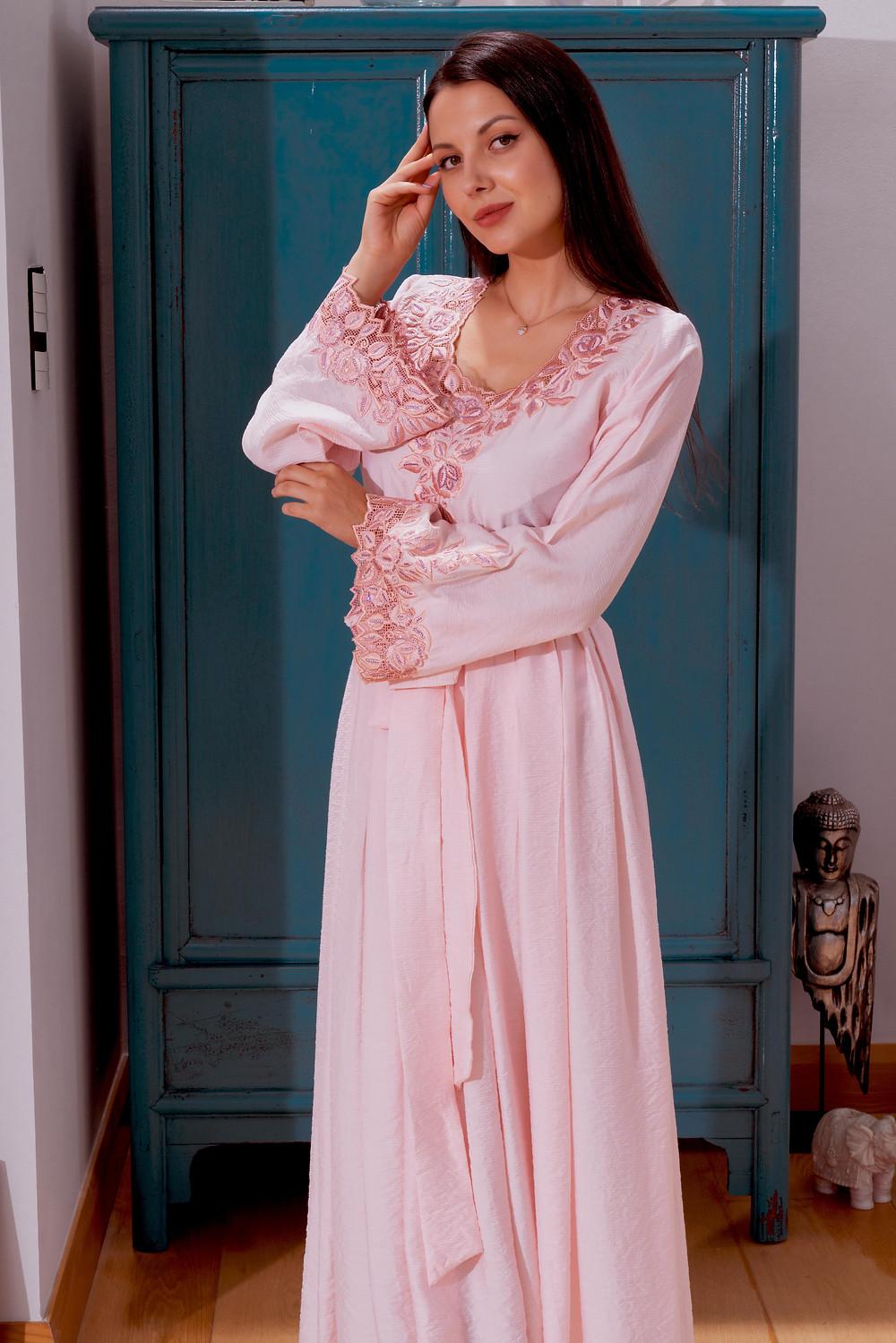 Pink Jalabiya dress-mamlakat