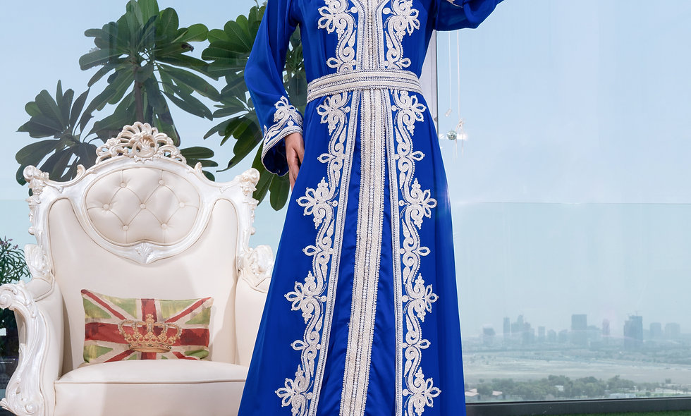 Blue Chiffon Maghrabi