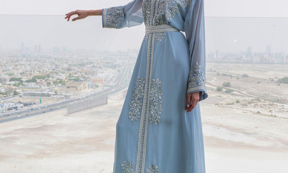 Organza blue Maghrabi