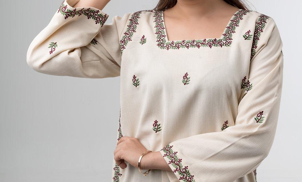 White Linen Jalabiya