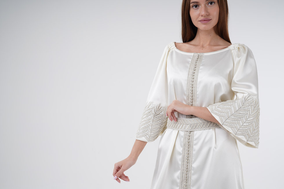 White dress-Jalabiya-Mamlakat