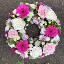 Wreath pink and white from £35