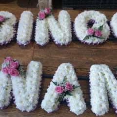 Funeral lettering £40 per letter