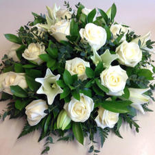 white Lily and rose posie from £45