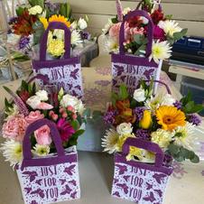Hessian flower bags £15/£20