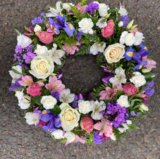 Wreath purples creams and pinks from £35