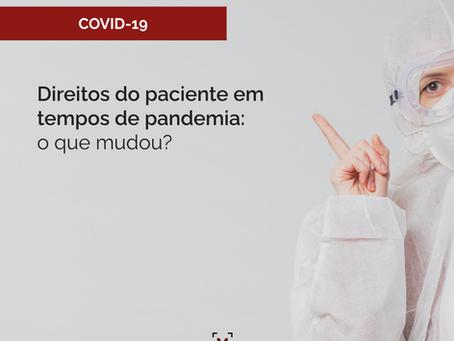Direitos do paciente em tempos de pandemia: o que mudou?