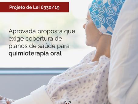 Aprovada proposta que exige cobertura de planos de saúde para quimioterapia oral