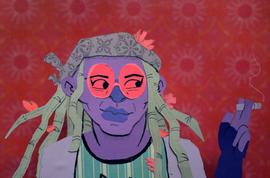 A portrait of friend and fellow artist Jules Premus' original character.