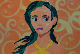 A Marina Diamondis themed piece I made for social media.