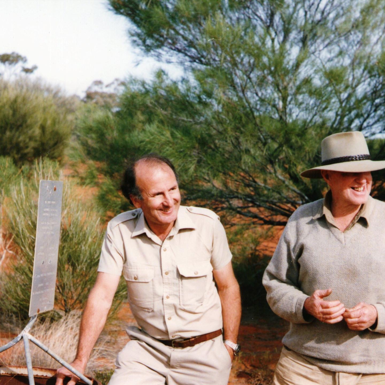 Dick Lang & Len Beadell 1988