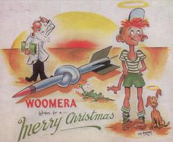 Len's Woomera postcard 1957