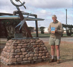 Len at Woomera with End of an Era