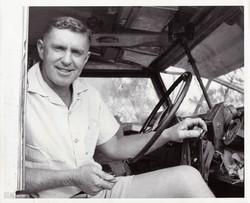 Len in Rover_1960's