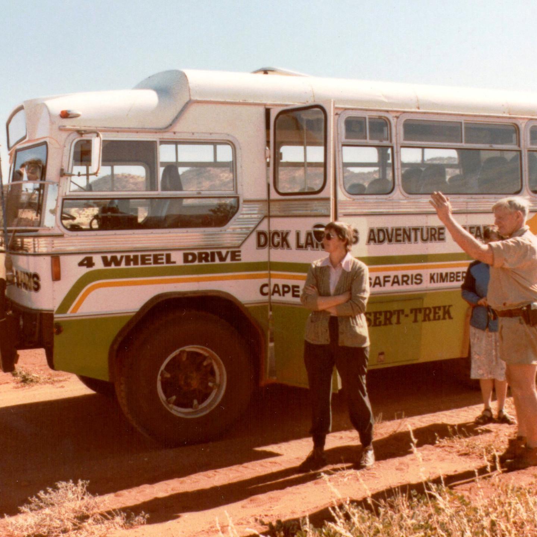 Len Beadell, Irene Witcher and Dick Lang 1984 Desert Trek