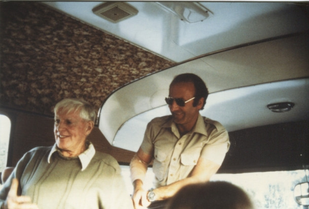 Dick Lang & Len Beadell 1986
