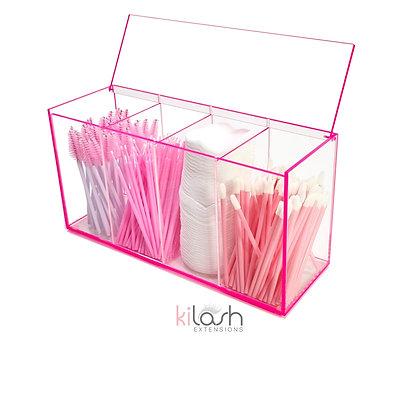 Acrylic Storage Neon Pink Edging
