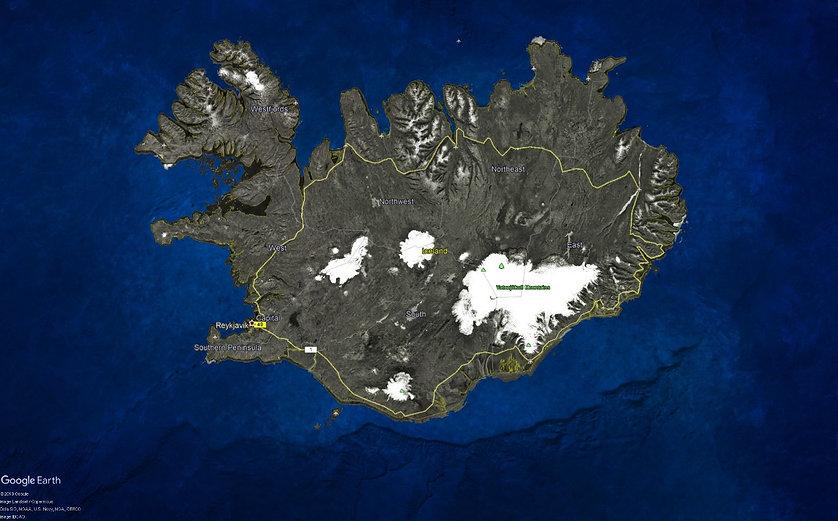 Islândia Mapa