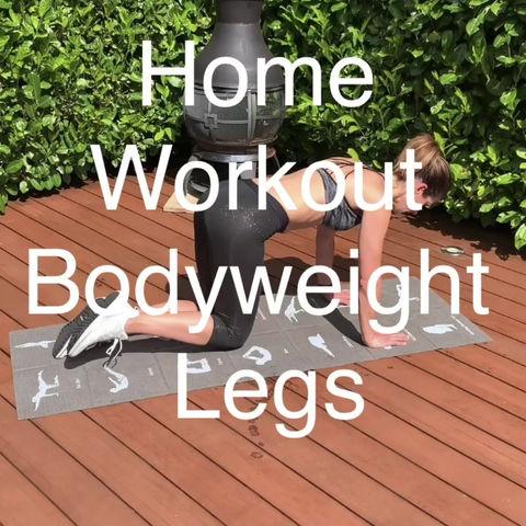 Bodyweight Leg Workout 🔥 😎