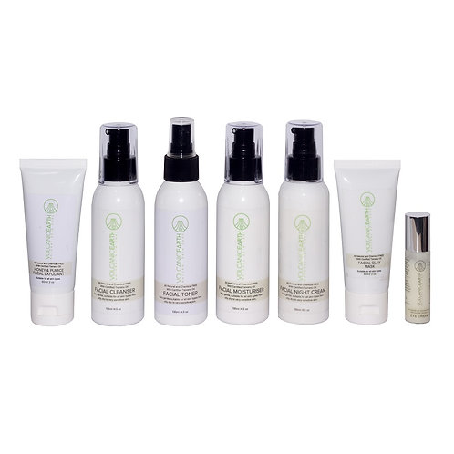 Volcanic Earth Organic Full Face Care Pack (Set of 7 Products)