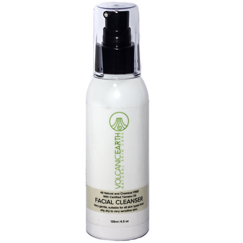 Volcanic Earth Organic Facial Cleanser with Certified Tamanu Oil, 135ml