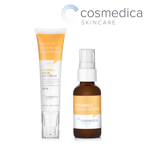 Cosmedica Skincare Vitamin C Facial Bundle (Day Cream 60ml + Facial Serum 30ml)