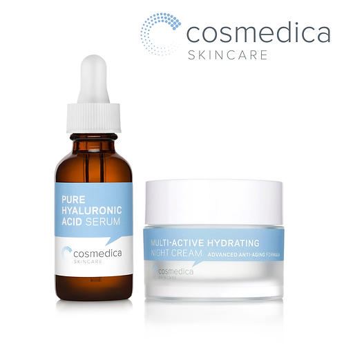 Cosmedica Skincare Hyaluronic Acid Night Care Facial Bundle